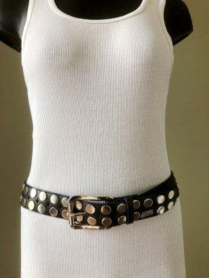 Miss Sixty Cinturón de pinchos negro-color plata Imitación de cuero