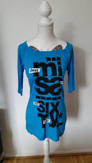 Miss Sixty Oberteil mit mittellangen Ärmeln und schwarz/weißem Print