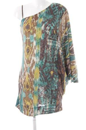 Miss Sixty One-Shoulder-Kleid abstraktes Muster Boho-Look