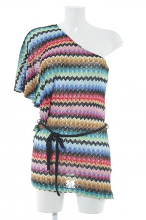 Miss Sixty One-Shoulder-Top Lochstrickmuster Party-Look