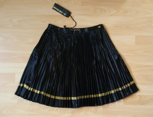 Miss Sixty Pleated Skirt black-gold-colored mixture fibre