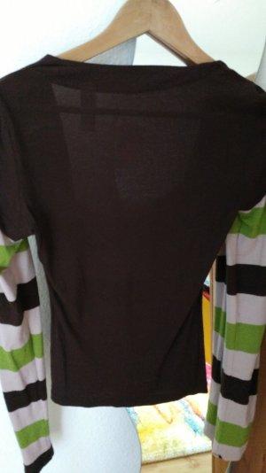 Miss Sixty Pullover in Braun mit Wasserfall Ausschnitt in Größe M