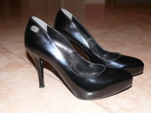 MISS SIXTY ** PUMPS ** HIGH HEELS ** Gr. 38 ** schwarz ** Lack