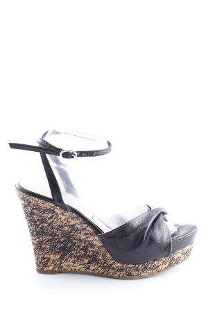 Miss Sixty Sandalias de tacón de tiras negro-crema look casual