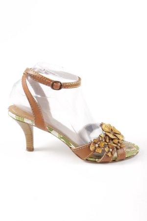 Miss Sixty Riemchen-Sandaletten hellorange-braun Dekoelemente