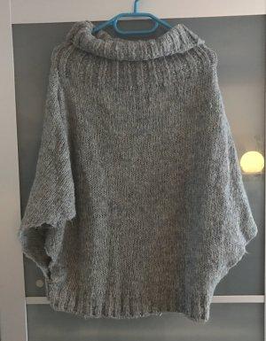 Miss Sixty Rollkragen Poncho - Grau helles braun gemischt - Größe S