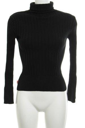 Miss Sixty Jersey de cuello alto negro look casual