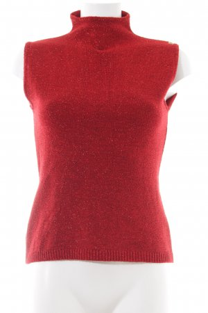 Miss Sixty Neckholder Top red wet-look