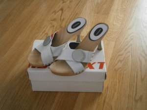 Miss Sixty Clog Sandals white wood