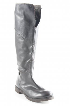 Miss Sixty Schaftstiefel schwarzbraun-dunkelbraun schlichter Stil