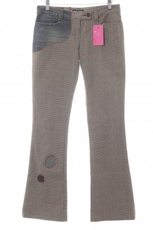 Miss Sixty Flares houndstooth pattern '70s style