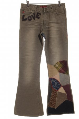Miss Sixty Pantalon pattes d'éléphant multicolore style décontracté