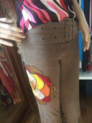 Miss Sixty Pantalón de campana marrón grisáceo