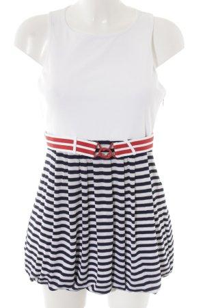 Miss Sixty Shirtkleid weiß-dunkelblau Streifenmuster Marine-Look