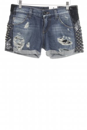 Miss Sixty Shorts dunkelblau Used-Optik
