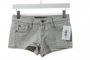Miss Sixty Shorts hellgrau Destroy-Optik