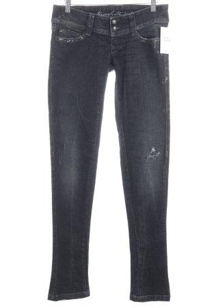Miss Sixty Skinny Jeans dunkelgrau Destroy-Optik