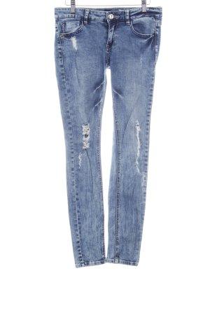Miss Sixty Skinny Jeans kornblumenblau Destroy-Optik