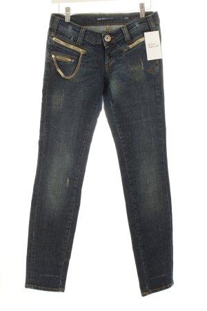 Miss Sixty Slim Jeans dunkelblau-wollweiß Casual-Look