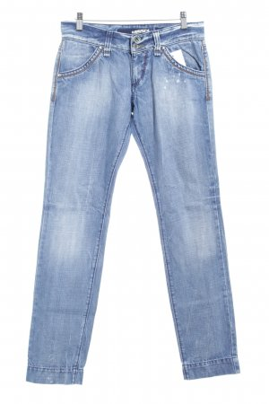 Miss Sixty Slim Jeans kornblumenblau-himmelblau Bleached-Optik