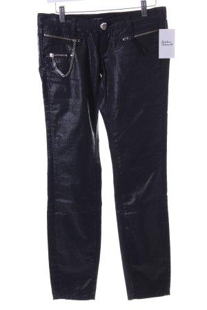Miss Sixty Slim Jeans schwarz Glanz-Optik