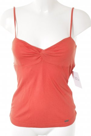 Miss Sixty Spaghettiträger Top dunkelorange Casual-Look