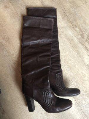 Miss Sixty Kniehoge laarzen roodbruin-donkerbruin