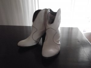 Miss Sixty Booties white leather