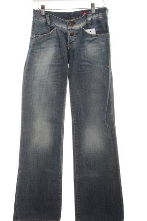 Miss Sixty Straight-Leg Jeans blassblau-graublau schlichter Stil