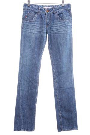 Miss Sixty Straight-Leg Jeans dunkelblau-stahlblau Casual-Look