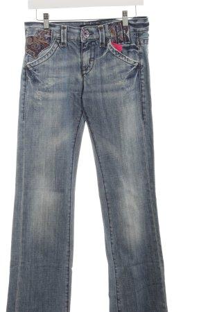 Miss Sixty Straight-Leg Jeans himmelblau Boho-Look