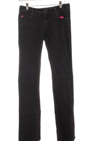 Miss Sixty Straight-Leg Jeans schwarz schlichter Stil