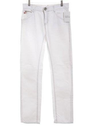 Miss Sixty Straight-Leg Jeans weiß-sandbraun Casual-Look
