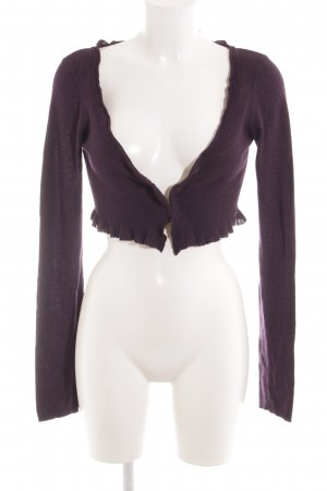 Miss Sixty Knitted Bolero brown violet casual look
