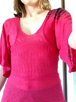 Miss Sixty Strickoberteil, Wolle, Alpakawolle XS pink