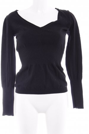 Miss Sixty Strickpullover schwarz Casual-Look