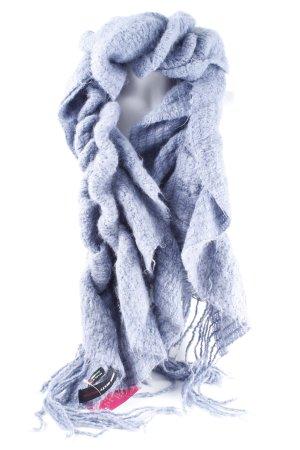 Miss Sixty Gebreide sjaal korenblauw-staalblauw vintage uitstraling