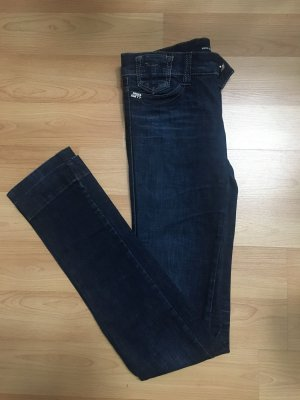 Miss Sixty Low Rise jeans donkerblauw-zilver