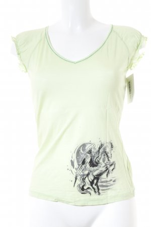 Miss Sixty T-Shirt blassgrün Casual-Look