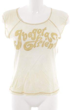 Miss Sixty T-Shirt hellgelb Schriftzug gedruckt Casual-Look