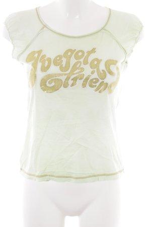 Miss Sixty T-Shirt mint Schriftzug gedruckt Casual-Look