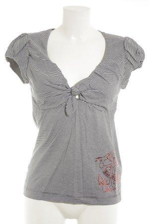Miss Sixty T-Shirt Streifenmuster Marine-Look