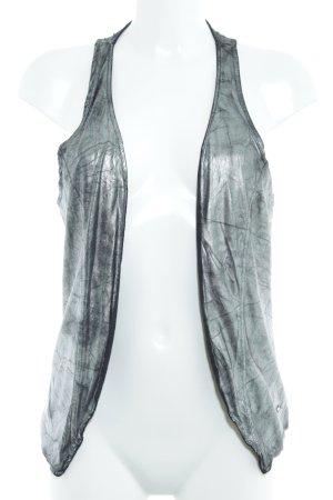 Miss Sixty Trägertop silberfarben-schwarz 60ies-Stil