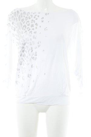 Miss Sixty U-Boot-Shirt weiß-silberfarben Animalmuster Animal-Look