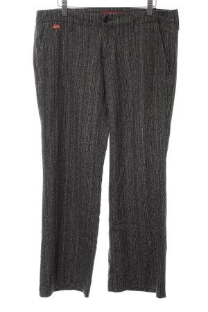 Miss Sixty Woolen Trousers light grey-black striped pattern casual look