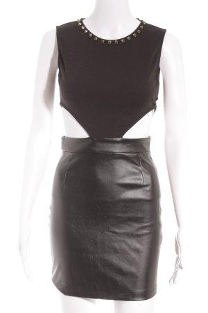 Missguided Abendkleid schwarz Party-Look