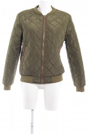 Missguided Bomber Jacket olive green quilting pattern street-fashion look