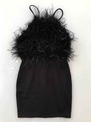 Missguided Feder-Kleid schwarz