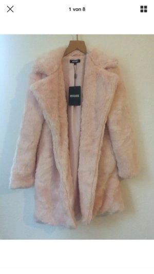 Missguided Fell Jacke Mantel Pelz Fake Fur 34 36 XS S