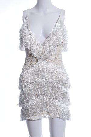 Missguided Fringed Dress light grey elegant